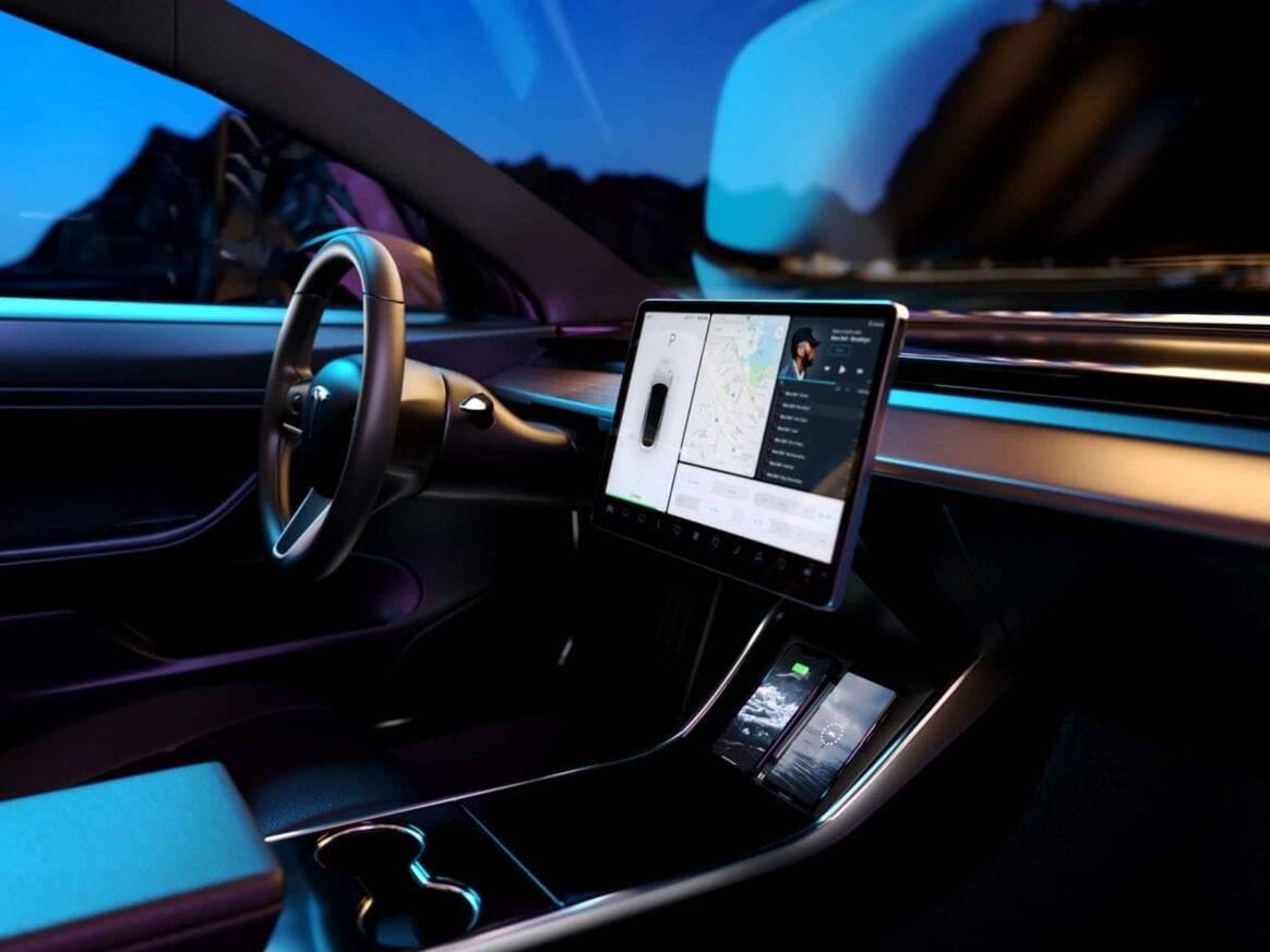 Tesla 3D Automotive Interior Visualization