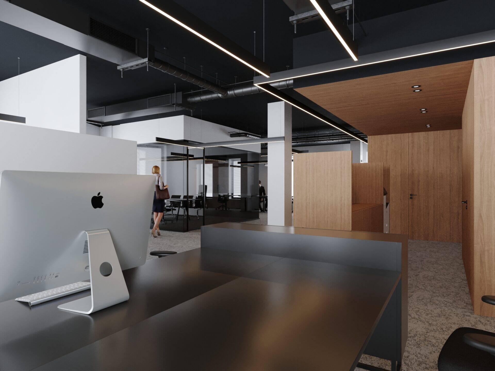 3D Office Space Rendering